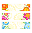flower banners vector image