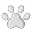 Footprint of cats foot icon cartoon style vector image