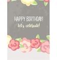 Happy Birthday for girl vector image