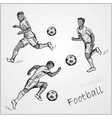 set football players in different poses vector image