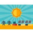 solar energy power plant in flat style vector image