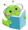 worm book vector image