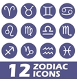 Zodiac icons set vector image