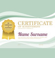 clean and simply blank certified border template vector image
