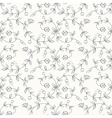 Easy Tulips Light Pattern vector image vector image