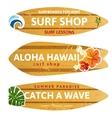 wooden surfboards vector image vector image