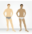 A young man in his underwear in full growth vector image
