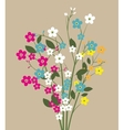 forget me not flowers vector image