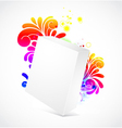 3d blanck box with floral background vector image vector image