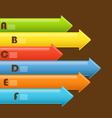 Abstract information arrows vector image