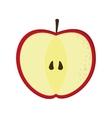 apple half icon vector image