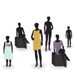 Beauty and fashion Mannequin in clothes and vector image