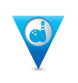 bowling icon pointer blue vector image