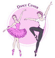 dance line color ballet vector image
