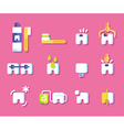 Dental health icons vector image