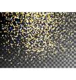 Falling Christmas shining gold glitter snowfall vector image