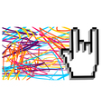 Hand Cursor Metal Music background vector image