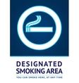 Label smoking area sticker vector image
