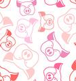 Pig seamless pattern Boar head ornament Pork vector image