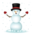 Realistic Snowman Happy Cartoon New Year Toy vector image