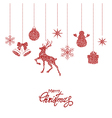 red christmas decorations vector image