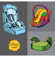 set baby seat for car All categories infant vector image