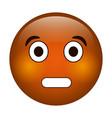 surprised emoticon funny icon vector image