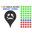 tiers smiley map marker icon with bonus smile vector image