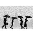 Rain people vector image vector image