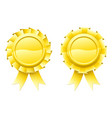blank gold rosettes vector image