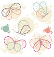 bright colorful butterflies icon set vector image vector image