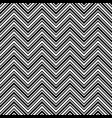 monochrome chevron pattern black and white vector image