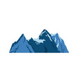 snow mountains peak alpine landscape image vector image