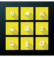 flat coffee icon set vector image