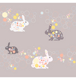 abstract rabbit background vector image vector image