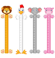 Cartoon animal wall meter vector image