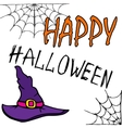 tall witch hat vector image