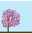 Spring flowering tree vector image vector image