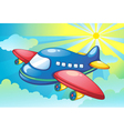 Aeroplane Flying Background vector image