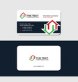 business card with two red and green houses vector image