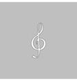 clef computer symbol vector image
