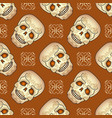 day of the dead seamless pattern with sugar skull vector image