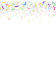 festive falling down colorful bright confetti vector image