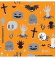 Halloween pixel art pattern vector image