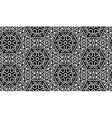 Monochrome pattern with flowers vector image