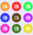 tv icon sign Big set of colorful diverse vector image
