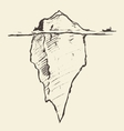 Sketch of an iceberg with icebreaker vector image