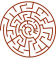 spiral labyrinth vector image vector image