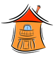 Cartoon little house eps10 vector image vector image