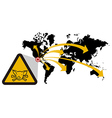 Risk of global epidemic of swine flu vector image